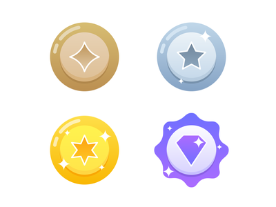 Badge Illustrations vector sports silver play notification medals interaction illustration icon iconography design graphic gold bronze badges