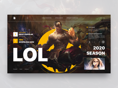 League of Legends concept design game design cooperation summoner leaderboard illustration icons cool fighting video hero league of legends lol official design website web ux ui game