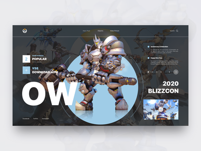 Overwatch Conceptual Design fps esports sports overwatch website video ux ui summoner official leaderboard first-person shooter icons hero game design game fighting design cooperation cool