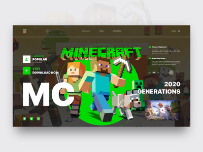 Minecraft Conceptual Design architect architectural design building esports sports website video ux ui summoner official leaderboard minecraft icons hero game fighting design cooperation cool