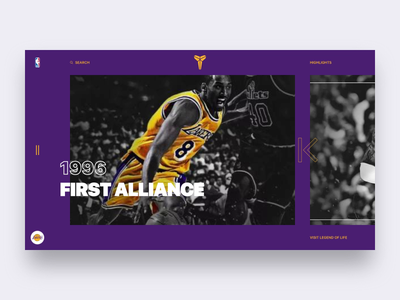Web Conceptual Design for Kobe faith alliance hero man ux ui design sports team website legend nba basketball