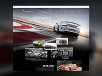 Porsche Web Timeline Concept