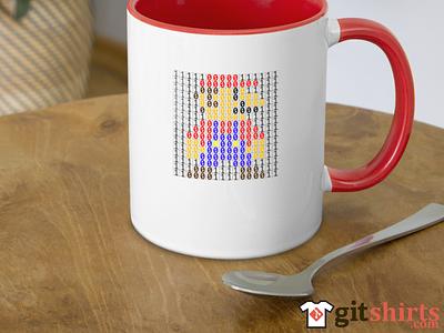 GitShirts.com Binary Bitmap of Mario programmer code github git gitshirts fashion