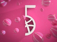 5th Birthday for Dribbble