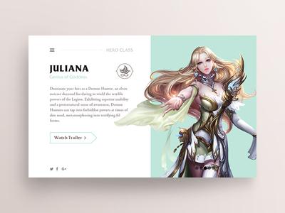 Hero Class (Dashborad) landing page ux ui dashboard design web flat responsive game