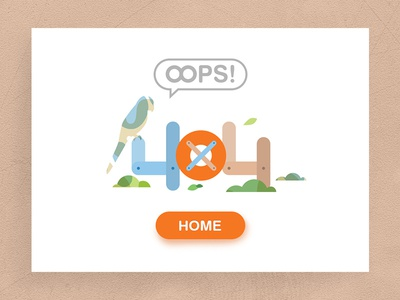 404~ flat illustrator web 404 oops