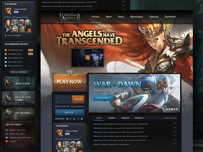 LOA2 ux ui html dashboard mmorpg website game