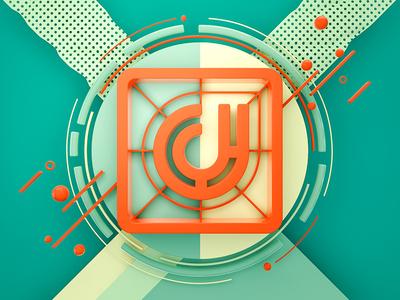 CJ #03 set logo color c4d brand