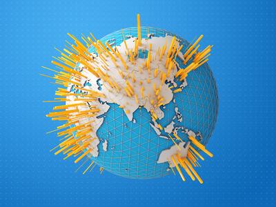 earth grid c4d earth illustration 3d world