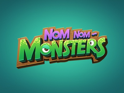 Monsters typography logo illustration game digitalart branding