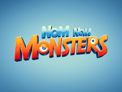 Monster2 typography logo illustration game digitalart branding