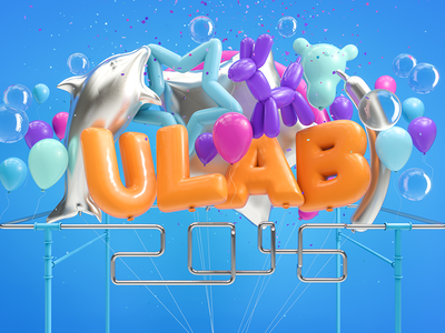 ULAB 2016 happy child ballon render digitalart cinema4d c4d 3d