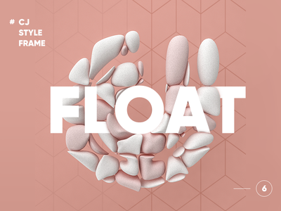 CJ-STYLE FREAM #6 app icon float illustration c4d 3d
