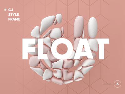 CJ-STYLE FREAM #6 app icon float illustration c4d 3d