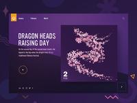 Dragon heads raising day