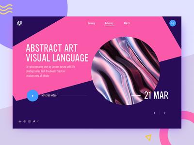 Abstract art website ux ui modern dashborad layout grid custom concept metal art abstract
