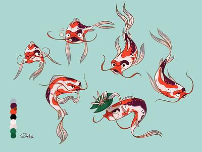 Rupert the Royal Advisor original character original art fish illustration drawing procreate digital painting digital illustration character design