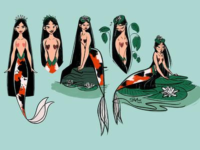 Princess Lily lily princess mermaid original character original art illustration drawing procreate digital painting digital illustration character design