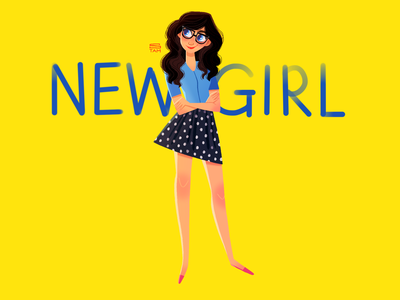 New Girl fan art jessica day new girl illustration drawing procreate digital painting digital illustration character design