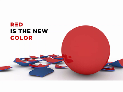 Red is the new color animation branding logo design illustration typography cinema4d 3d