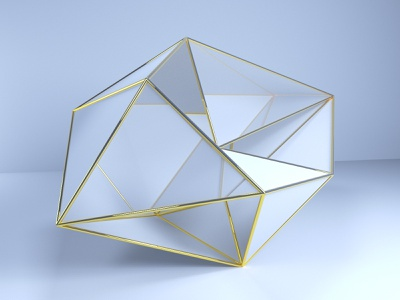 Gold and glass gold illustration glass abstract design cinema4d 3d