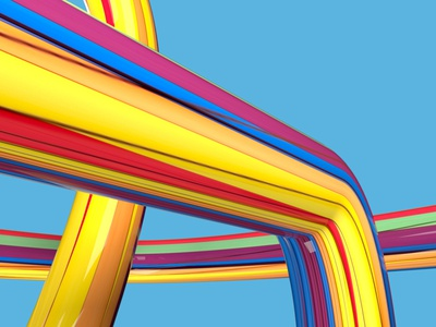 Pipes cgart colorful concept colors cg illustration abstract design cinema4d 3d