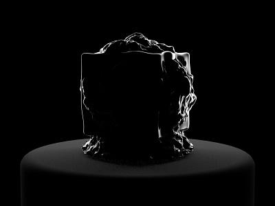 Black sculpture volume arnold render artwork shadow light art concept cgart cg abstract design cinema4d 3d
