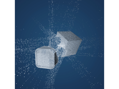 Fragments particles illustration arnold render cgart cg concept abstract design cinema4d 3d