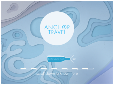 anchor.travel —promo page anchor travel simple geometry promo web site