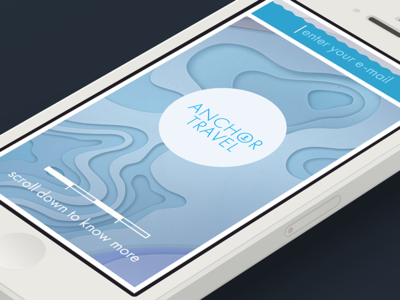 anchor.travel —mobile version anchor travel simple geometry mobile web site ios iphone