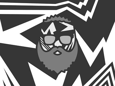 Me in Dazzle beard mimimi sunglasses camo simple icon pictogram dazzle