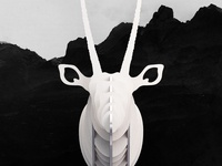 DIY Wooden Gemsbok