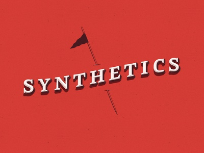 Synthetics fun logo synthetics flag red