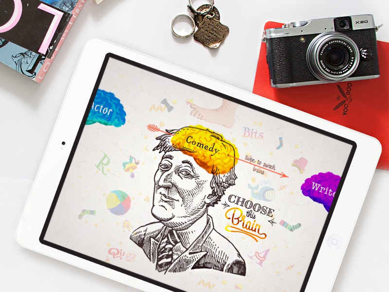 App Concept for Stephen Fry new book's promo campaign app concept stephen fry promo ipad ios