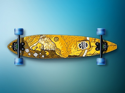 The Big Fish icon deck skateboard long board longboard motion surf