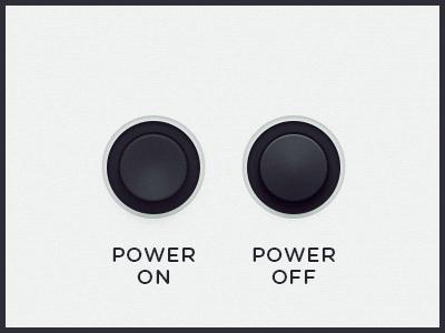 WEGA 51K UI — Power ui button dial ux power wega on off ps
