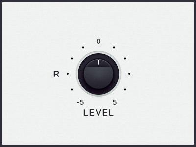 WEGA 51K UI — R Level ps ui ux wega volume dial button level right