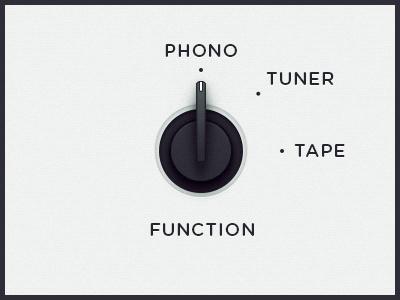 WEGA 51K UI — Function ui ux wega dial phono tuner tape function button ps