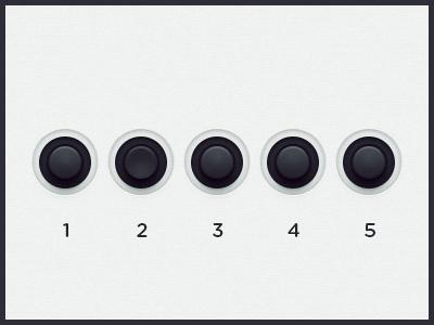 WEGA 51K UI — Mini buttons ui button five preset ux function wega on off