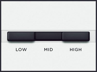 WEGA 51K UI — Preset buttons ui button low mid high preset ux function wega on off