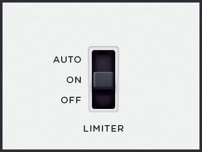 WEGA 51K UI — Limiter ui button auto ux function wega on off limiter switcher