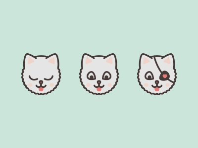 Pictograms for me and my friends — Kitty pictogram icon simple mint kitty cat friends mimimi pirate
