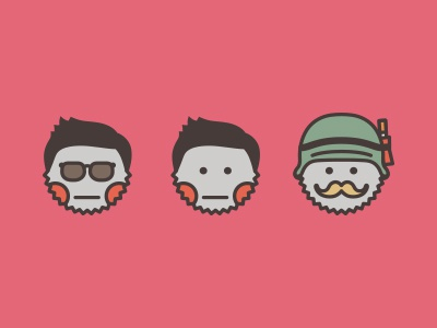 Pictograms for me and my friends — Minkin pictogram icon simple pink friends helmet sunglasses mimimi mustache