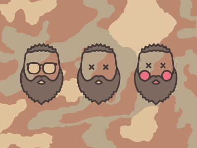 Pictograms for me and my friends — Me pictogram icon simple camo friends sunglasses mimimi beard