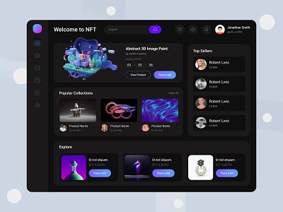 NFT Platform Dashboard typography branding logo nfts fintech top web design web design ux best ui top dashboard ui top dashboard design nft ui nft platform nft marketplace dashboard design dashboard