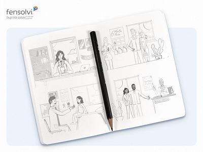 Fensolvi – Little a Little Longer Content Hub Illustrations treatment childhood draft parents kids illustration character children handwritten sketch