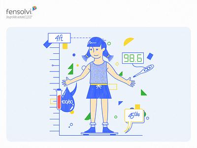 Fensolvi – Little a Little Longer Content Hub Illustrations girl kid design yellow playful illustration handwritten children character blue