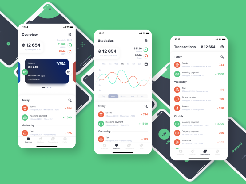 Wallet App Design money finance wallet interface app cards application ios design ux ui