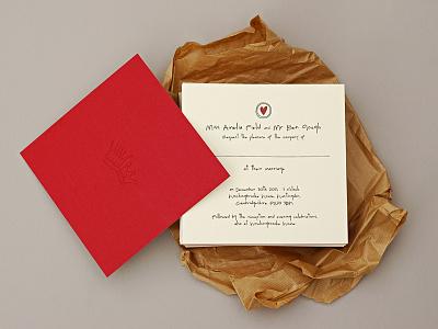 Ben and Amelia Letterpress Wedding Invites letterpress wedding invites invites duplex letter press wedding luxury handwritten love red cream