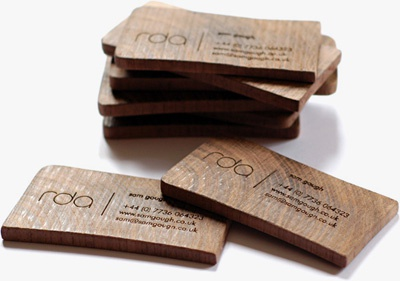 rda business cards business card wooden wood cards laser etched engraved